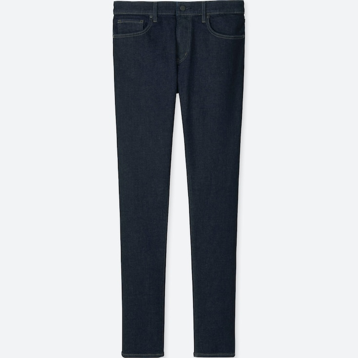 Men Ultra Stretch Skinny Fit Jeans, Blue, Large