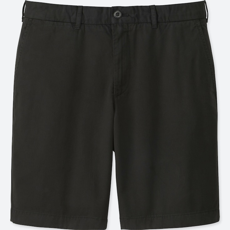 MEN CHINO SHORTS, BLACK, large