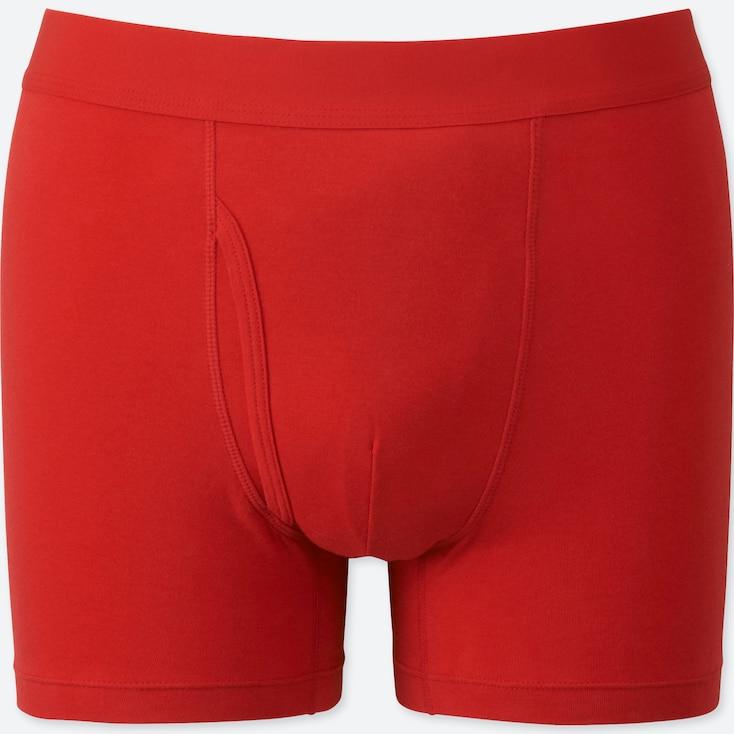 MEN SUPIMA® COTTON BOXER BRIEFS, RED, large