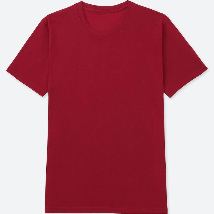 Men Packaged Dry Crewneck Short-Sleeve T-Shirt, Red, Large