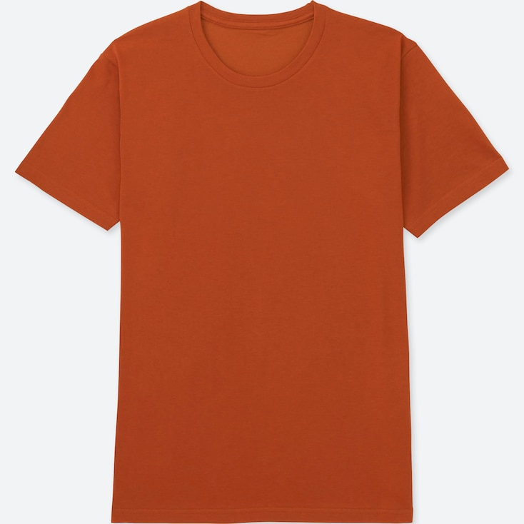 Men Packaged Dry Crewneck Short-Sleeve T-Shirt, Orange, Large