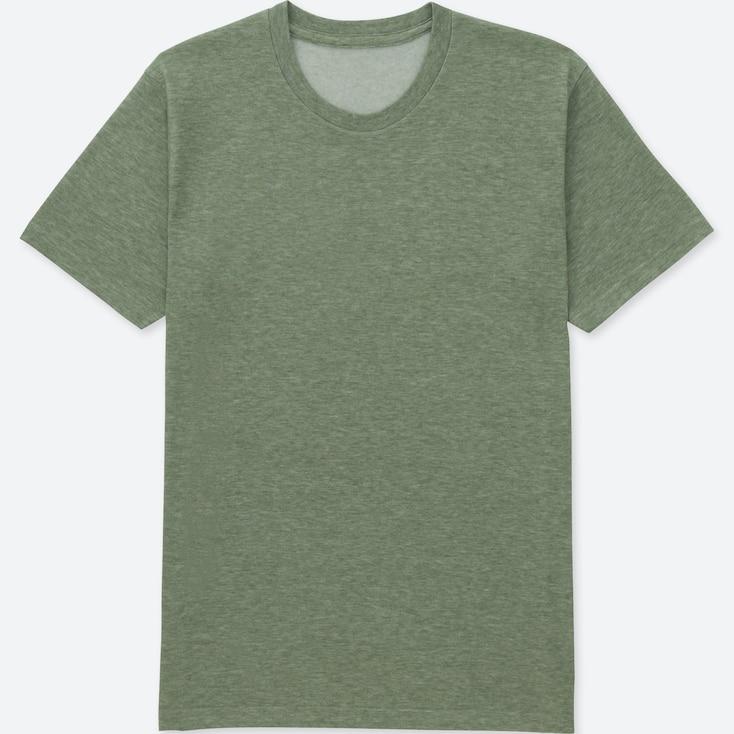 Men Packaged Dry Crewneck Short-Sleeve T-Shirt, Green, Large