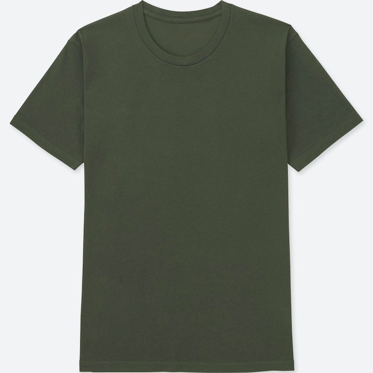 MEN PACKAGED DRY CREWNECK SHORT-SLEEVE T-SHIRT, DARK GREEN, large