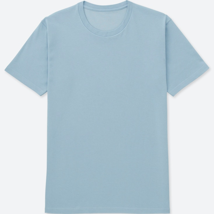 MEN PACKAGED DRY CREWNECK SHORT-SLEEVE T-SHIRT, LIGHT BLUE, large