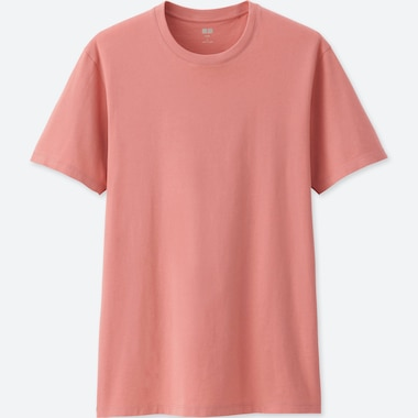 MEN SUPIMA® COTTON CREW NECK SHORT-SLEEVE T-SHIRT, PINK, medium