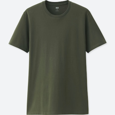 MEN SUPIMA® COTTON CREW NECK SHORT-SLEEVE T-SHIRT, DARK GREEN, medium
