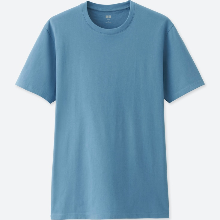 MEN SUPIMA® COTTON CREW NECK SHORT-SLEEVE T-SHIRT, BLUE, large