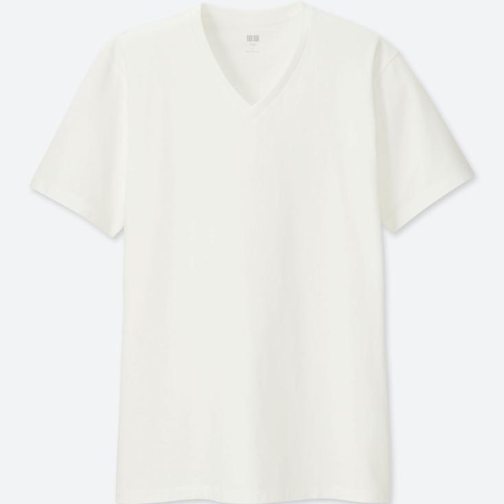 MEN SUPIMA® COTTON V-NECK SHORT-SLEEVE T-SHIRT, WHITE, large