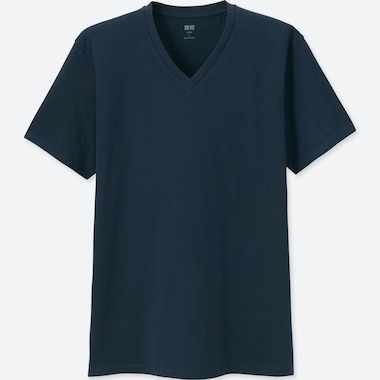 MEN SUPIMA® COTTON V-NECK SHORT-SLEEVE T-SHIRT, NAVY, medium