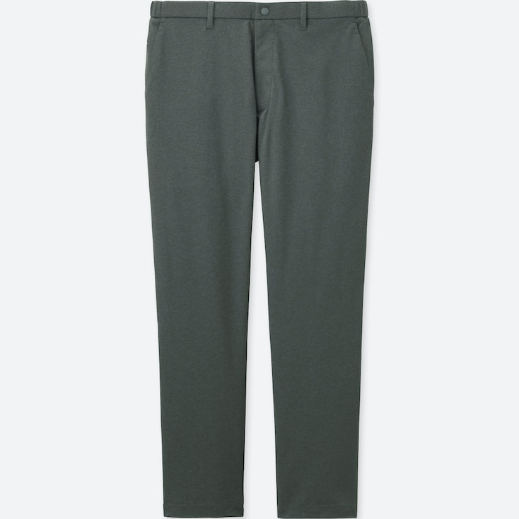 Men Dry-Ex Ultra Stretch Ankle-Length Pants, Gray, Large