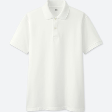 MEN DRY PIQUE SHORT-SLEEVE POLO SHIRT, WHITE, medium