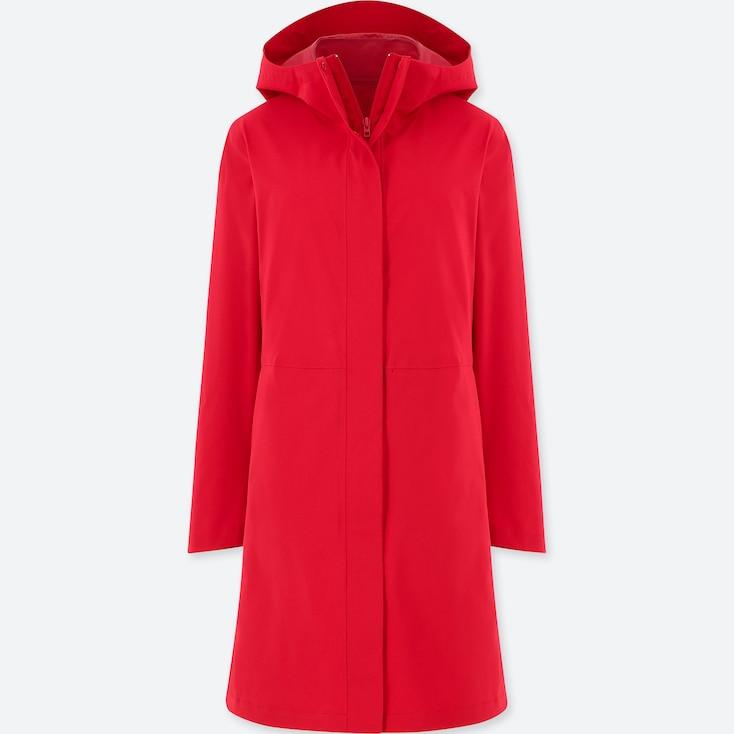 Women Blocktech Coat, Red, Large