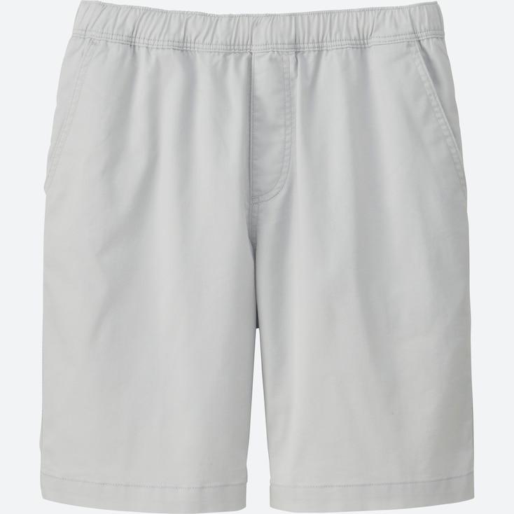 Men Dry Stretch Easy Shorts, Light Gray, Large