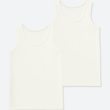 TODDLER AIRism MESH TANK TOP (SET OF 2), WHITE, medium