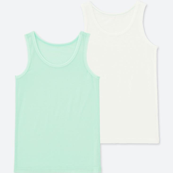 TODDLER AIRism MESH TANK TOP (SET OF 2), LIGHT GREEN, large