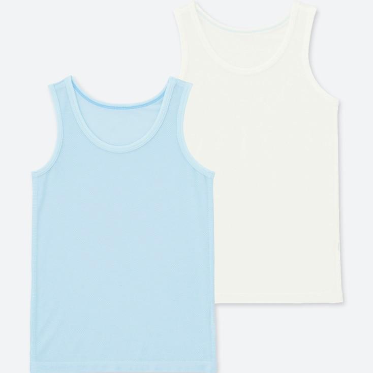 TODDLER AIRism MESH TANK TOP (SET OF 2), LIGHT BLUE, large