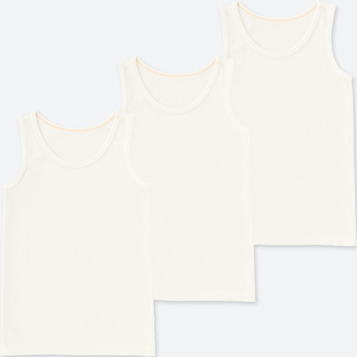 TODDLER COTTON MESH TANK TOP (SET OF 3), WHITE, large