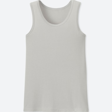 KIDS AIRism MESH TANK TOP, LIGHT GRAY, medium