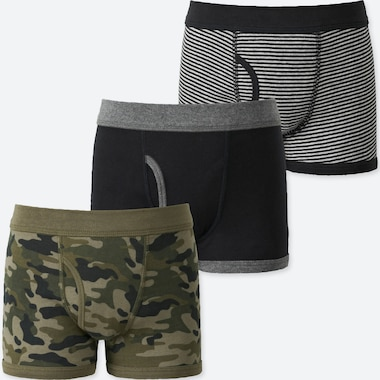BOYS BOXER BRIEFS (SET OF 3), OLIVE, medium