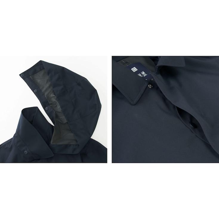 Men Blocktech Convertible Collar Coat, Navy, Large