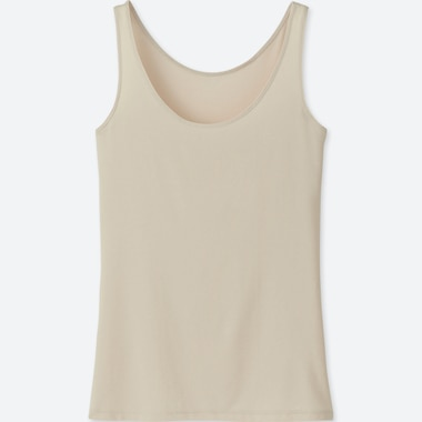 WOMEN AIRism SLEEVELESS TOP, NATURAL, medium