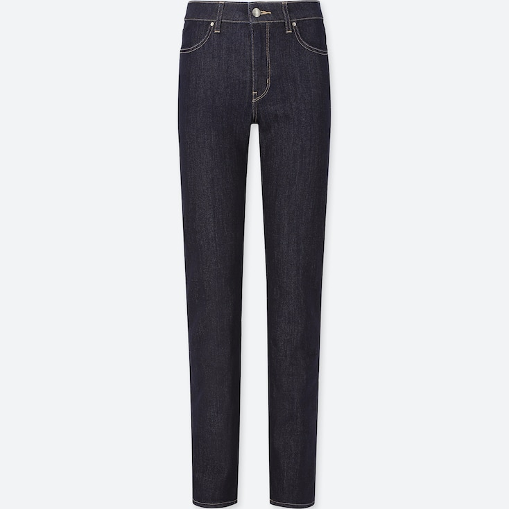 WOMEN HIGH-RISE SLIM FIT JEANS (ONLINE EXCLUSIVE), NAVY, large