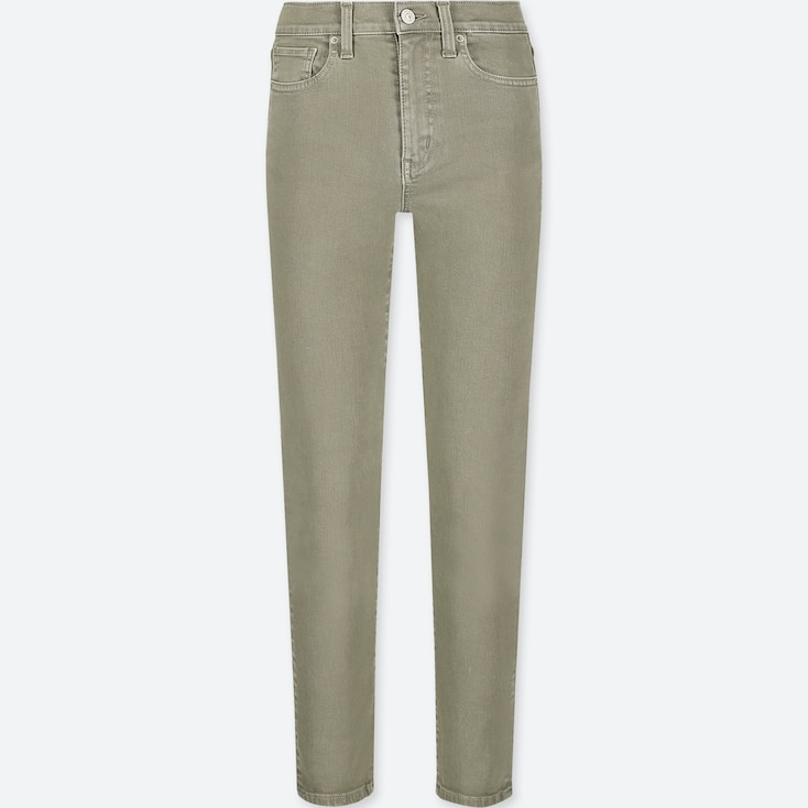 WOMEN HIGH-RISE CIGARETTE JEANS, OLIVE, large