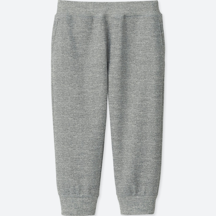 KIDS DRY-EX CROPPED PANTS, GRAY, large