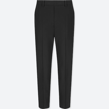 WOMEN SATIN SMART ANKLE LENGTH TROUSERS (L28)