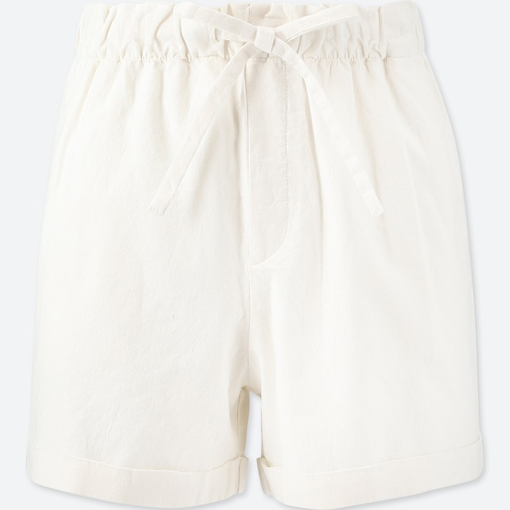 DAMEN LOCKERE SHORTS AUS BAUMWOLL-LEINEN-MIX