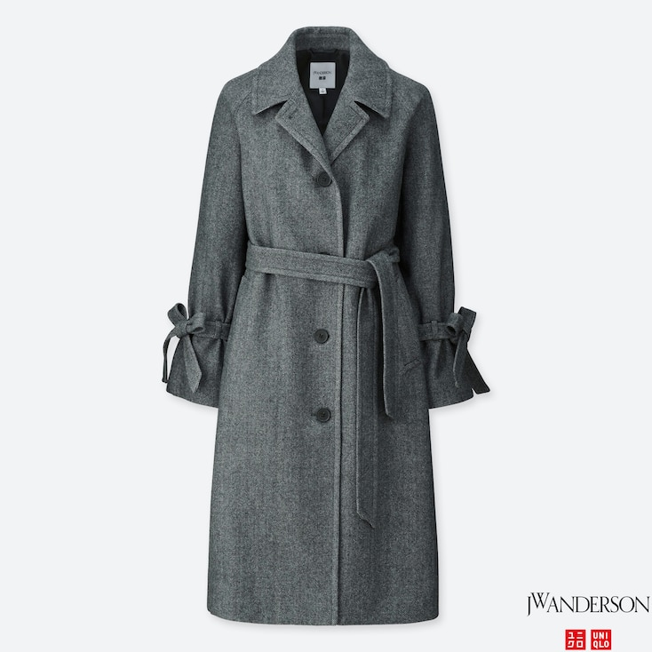 Women Jwa Tweed Coat, Dark Gray, Large