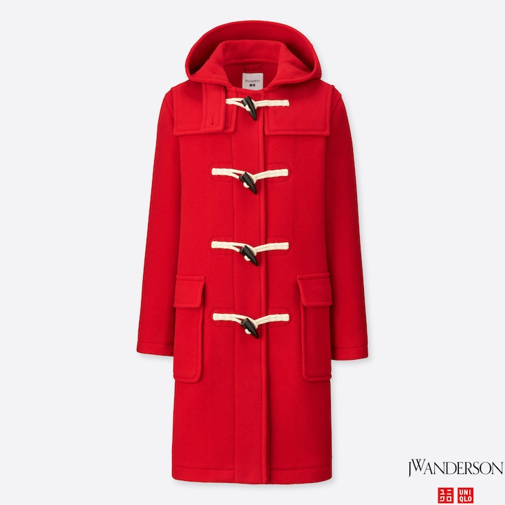 WOMEN JWA DUFFLE COAT, RED, large