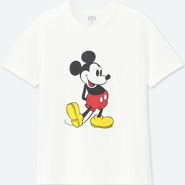KIDS MICKEY STANDS UT (SHORT-SLEEVE GRAPHIC T-SHIRT), WHITE, medium