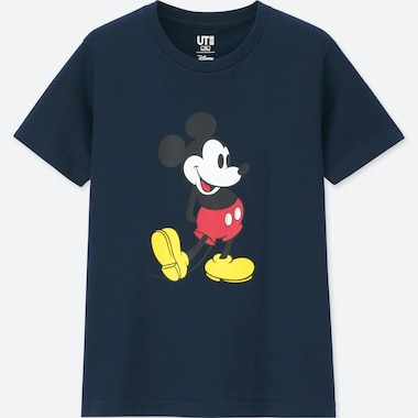 KIDS MICKEY STANDS UT (SHORT-SLEEVE GRAPHIC T-SHIRT), NAVY, medium