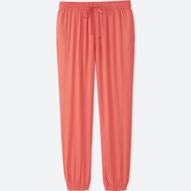 WOMEN DRAPE PANTS, ORANGE, medium