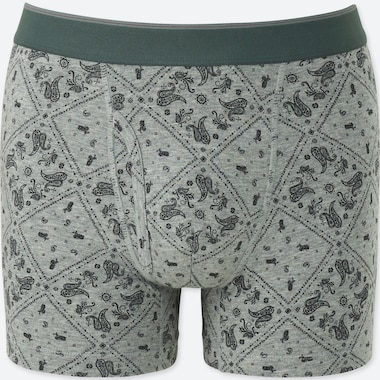 MEN SUPIMA® COTTON BOXER BRIEFS, GRAY, medium