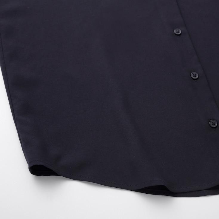 Women Rayon Sleeveless Blouse, Black, Large