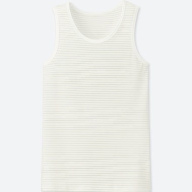 KIDS AIRism TANK TOP, OFF WHITE, medium