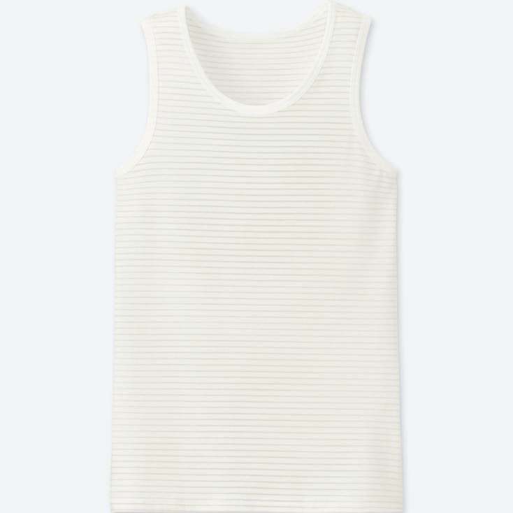 KIDS AIRism TANK TOP, OFF WHITE, large