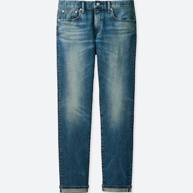 MEN STRETCH SELVEDGE SLIM-FIT JEANS, BLUE, medium