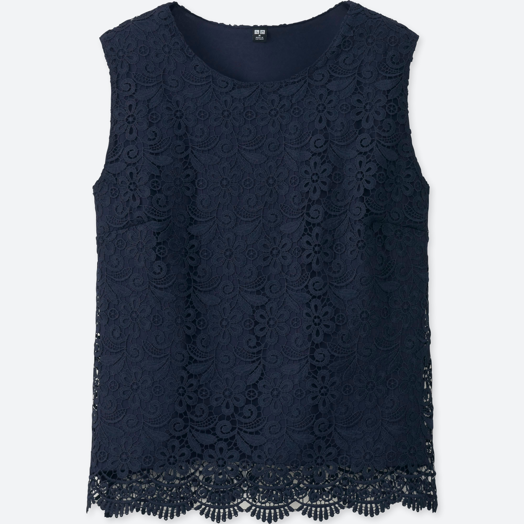 Womens Lace Short-Sleeve Shell Top Simply Be