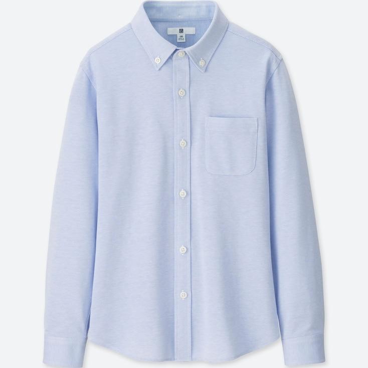 BOYS EASY CARE COMFORT SHIRT, BLUE, large