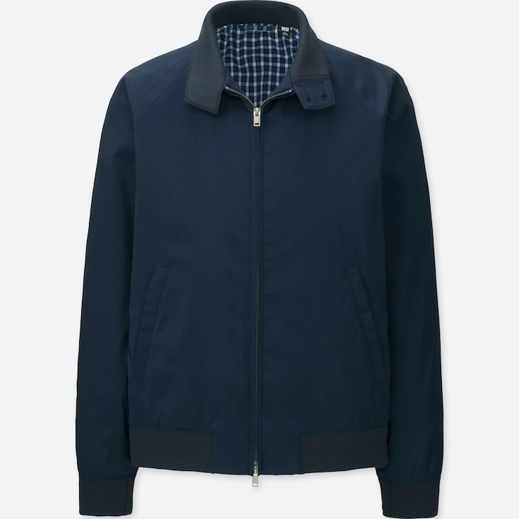MEN HARRINGTON JACKET, NAVY, large