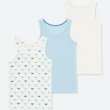TODDLER COTTON MESH TANK TOP (SET OF 3), BLUE, medium