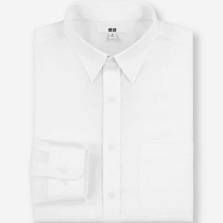 Men Easy Care Regular-fit Long-sleeve Shirt (s), White, Large