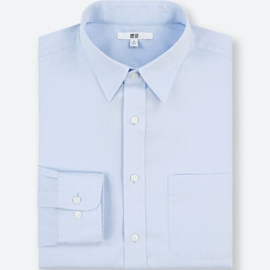 Men Easy Care Regular-Fit Long-Sleeve Shirt (Xl), Blue, Medium