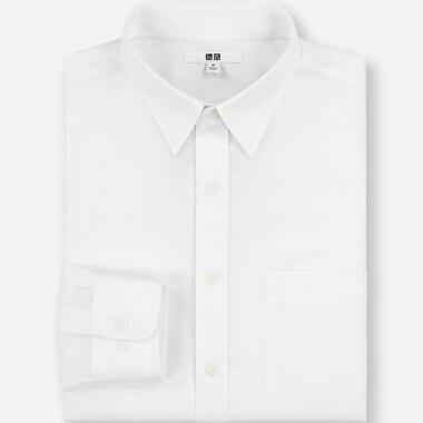 MEN EASY CARE REGULAR-FIT LONG-SLEEVE SHIRT (3XL BODY SIZE), WHITE, medium
