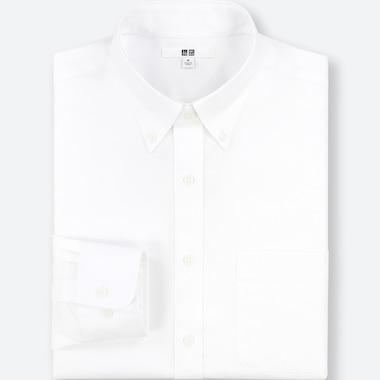Men Easy Care Regular-Fit Long-Sleeve Shirt (M), White, Medium