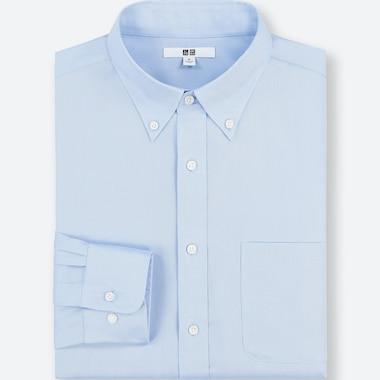 Men Easy Care Regular-Fit Long-Sleeve Shirt (M), Blue, Medium