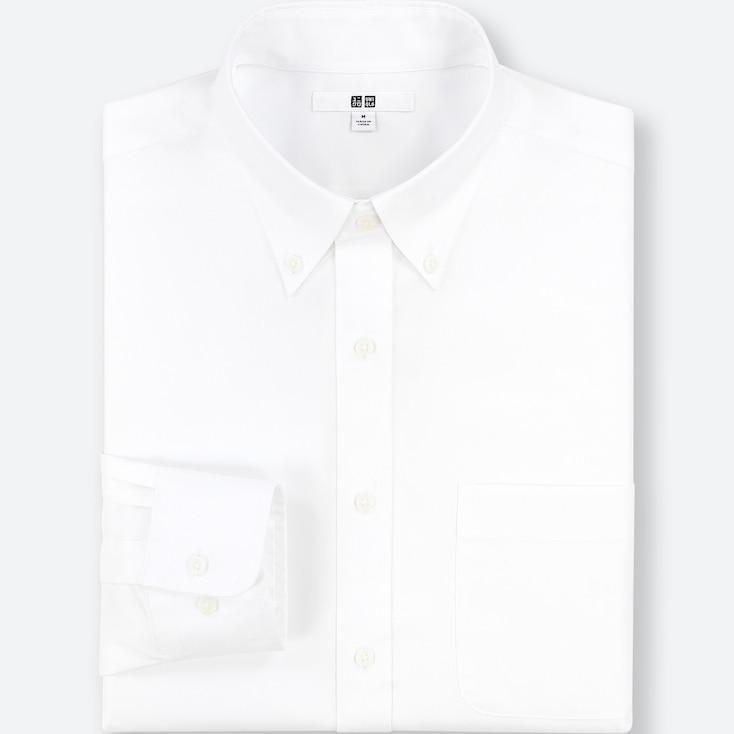 Men Easy Care Regular-fit Long-sleeve Shirt (l), White, Large